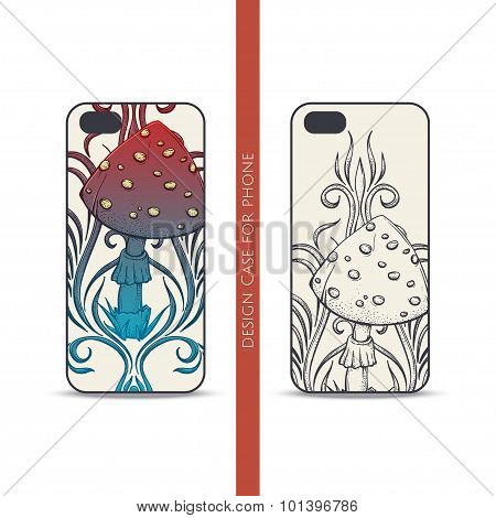 Design Case for Phone Abstract Mushroom Two
