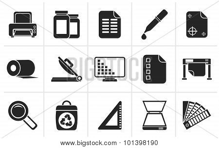 Black Commercial print icons