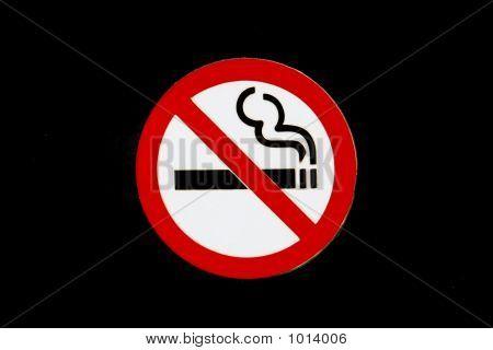 No Smoking Sign, Isolated On Black Background