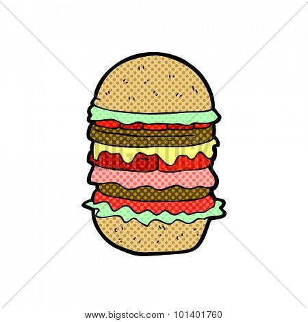 comic book style cartoon amazing burger