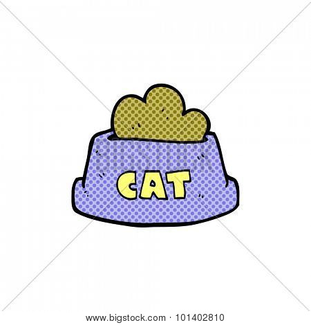 comic book style cartoon cat food
