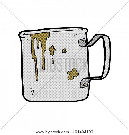comic book cartoon old tin cup