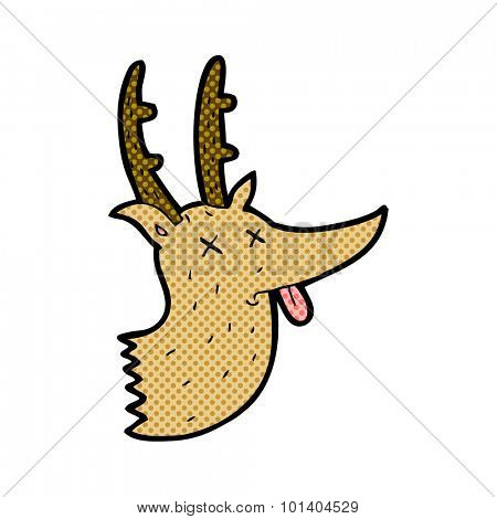 comic book style cartoon deer head