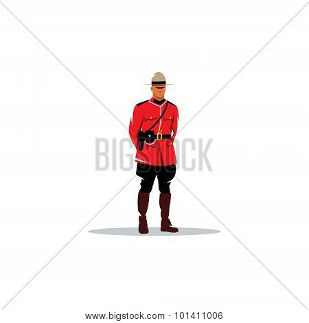 Mountie Sign. Canada Police. Vector Illustration.