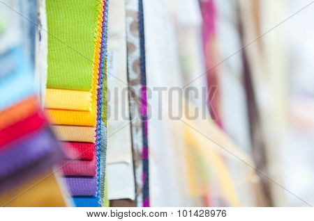 Colorful Fabric Samples Background