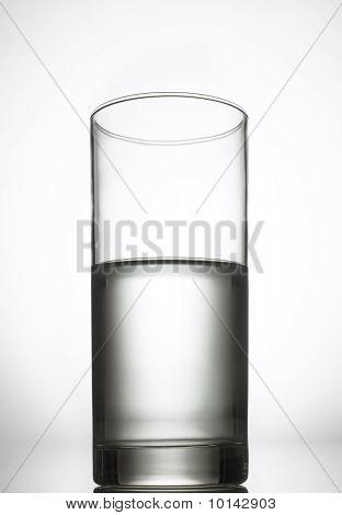 Half full glass of water