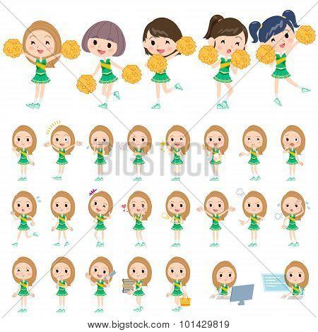 Green Cheerleader