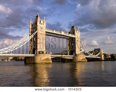 Tower Bridge By Cloudy Day