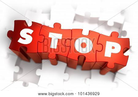 Stop - Text on Red Puzzles.