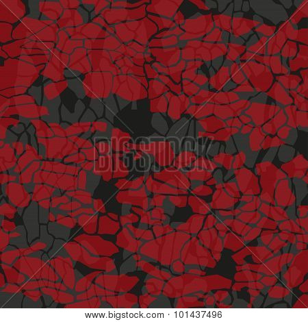 colored stones on a dark background vector illustration