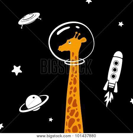 Giraffe In Space