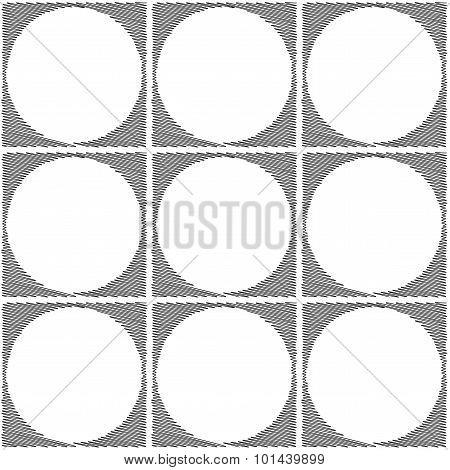 Design Seamless Monochrome Ellipse Geometric Pattern