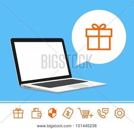 Laptop template