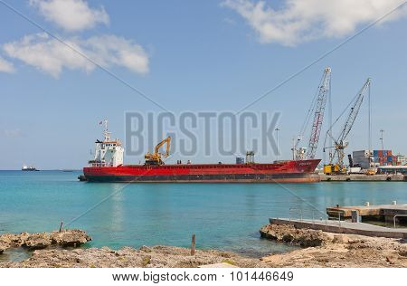 Monstein Vessel In George Town Port Of Grand Cayman