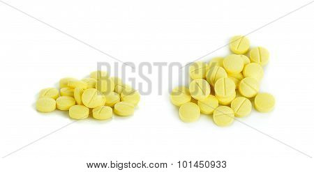 Anti Allergy Pills Isolated On The White Background