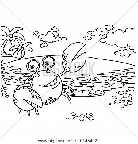 Crab Coloring Pages vector