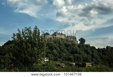 Dramatic view of Stirling Castle