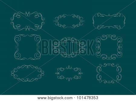 Elegant Vector Classic Ornamental Frames