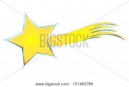 Vector merry christmas comet
