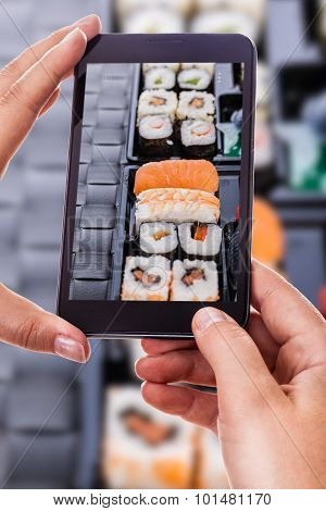 Photographing A Sushi Tray