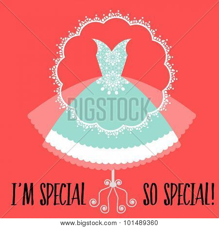 Special nouveau retro lacy dress - special occasion  poster