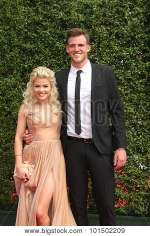 vLOS ANGELES - SEP 12:  Witney Carson, Carson Mcallister at the Primetime Creative Emmy Awards Arrivals at the Microsoft Theater on September 12, 2015 in Los Angeles, CA