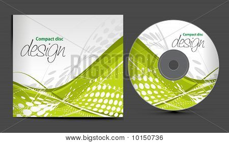 vector cd cover design template with copy space