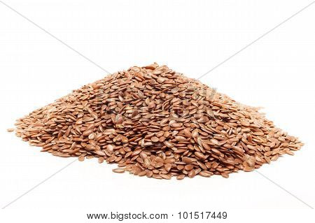 Pile of Organic Linseed or Flaxseed.