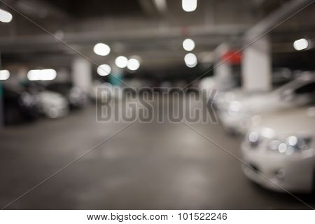 Car Parking Lot In Building Shopping Mall