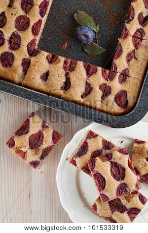 Spelt Zucchini Cake With Plums