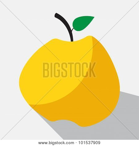 Yellow Apple And Long Shadow