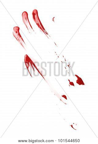 Oil paint stains isolated