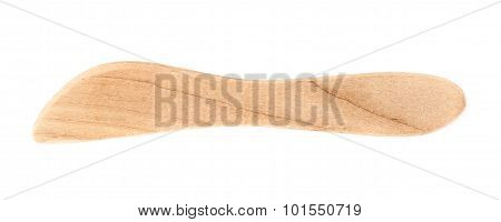 Wooden butter spreader knife isolated