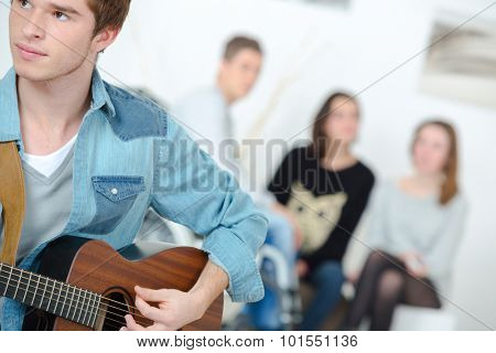 Playing the guitar together
