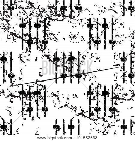 Faders pattern, grunge, monochrome