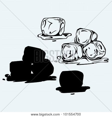 Bunch of ice cubes
