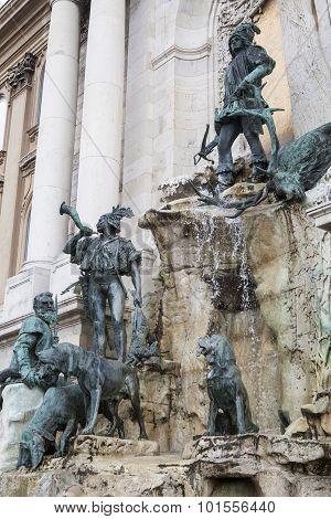 Matthias Fountain In Buda Castle