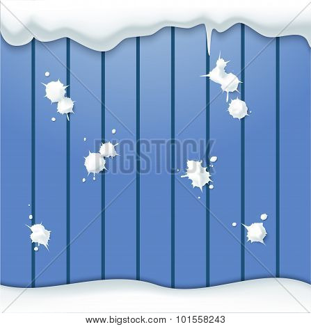 Snowballs And Fence