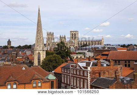 View From Clifford's Tower In York