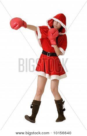 Christmas Lady Fighting