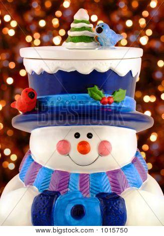 Snowman With Christmas Lights