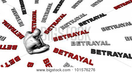 Suffering From Betrayal with a Victim Crying Male
