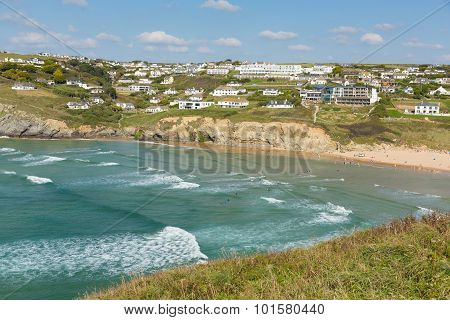Mawgan Porth beach north Cornwall England near Newquay and south of Porthcothan and Treyarnon on a s