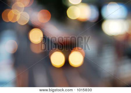 Blur Vehicle'S Lights