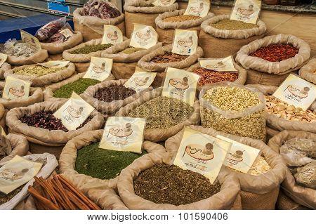 Spices at Jerusalem market
