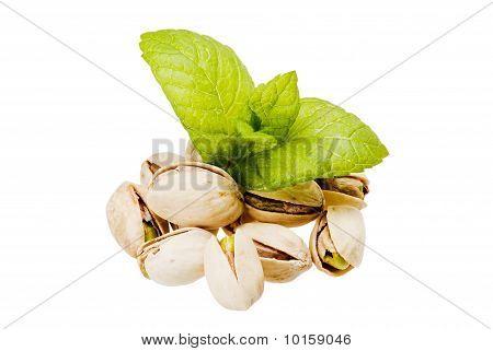 Pistachios And Fresh Mint