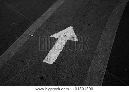 Black And White Direction Arrow
