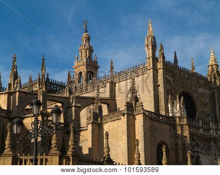 Facade Cathedral Of Seville