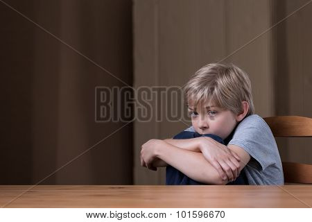 Little boy is scared of his terrible father poster