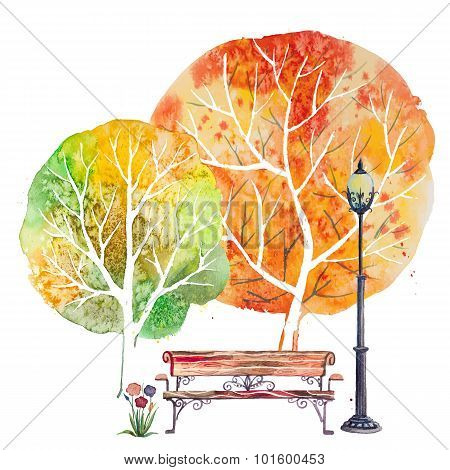 Autumn square background